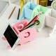 Stationery Wood Stationery Holder Elephant Shaped Wooden Pen Holder For Office Stationery