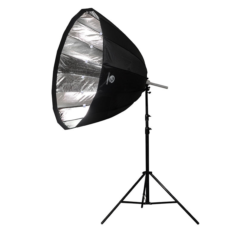 Lighting Reflectors 36 Inch Foldable Multi-Disc Light Reflector Two-fold Parabolic Shaped Umbrella for Outdoor Portrait Video Recording Black and Silver Photo Video Studio Reflector