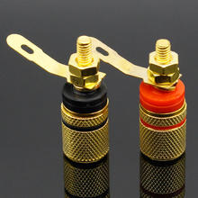 Gold Plated Amplifier Speaker Terminal Binding Post Banana Plug Socket Connector Suitable for 4mm banana plugs