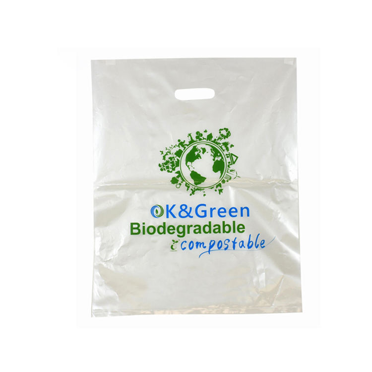 Custom logo printed bio cassava starch pla plastic bags 100% new raw material for plastic bag from china