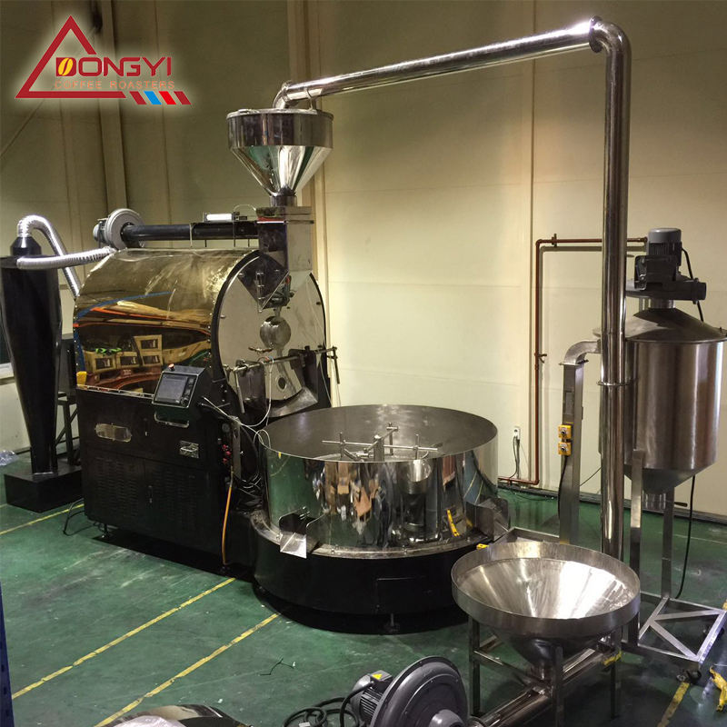HeNan Dongyi DY 120 kg automatic coffee roaster DY 120kg coffee roasting machine 120kg coffee bean roasting machine