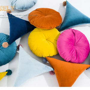 2018 New style Nordic wind round solid color Dutch velvet pillow cushion