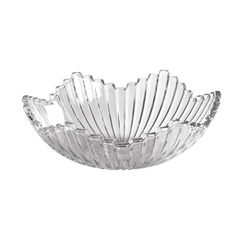 Wholesale Round Crystal Glass Fruit Tray Clear Glass Fruit Plate