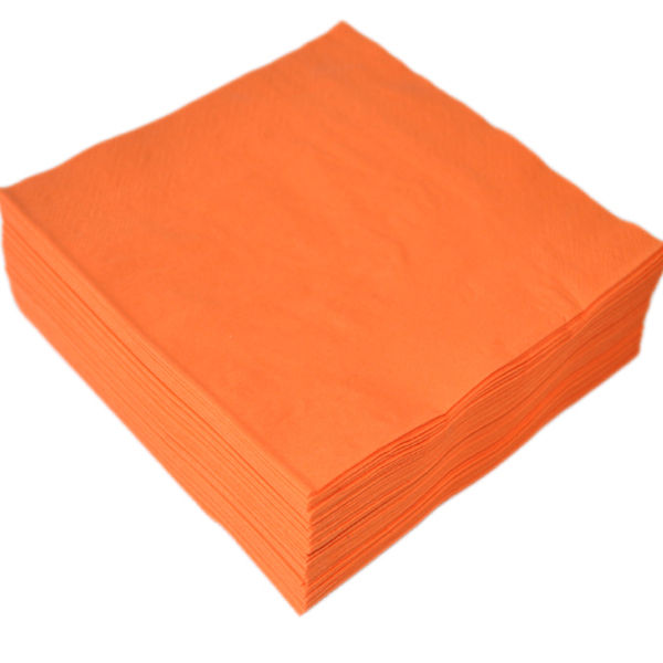 Disposable 33*33cm 2ply Solid Color Raw Materials Paper Napkin