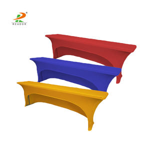 wholesale cheap fitted stretch spandex weight bench covers rectangle table cloth party