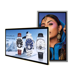 POP reclame display 20 inch plafond opgeschort auto/bus led scherm/monitor/digital signage