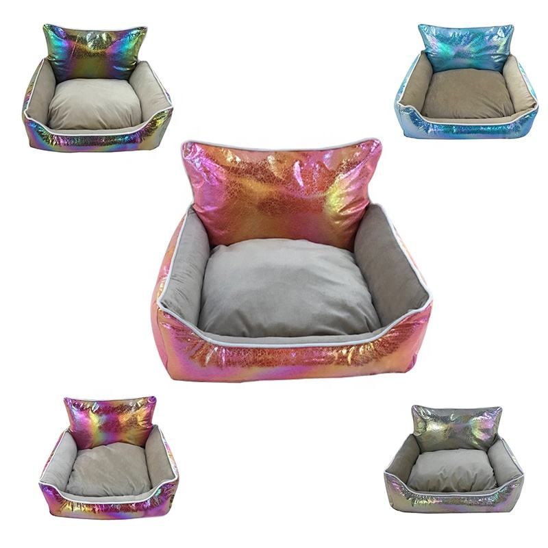 new design waterproof colorful pet dog bed fabric