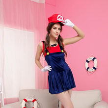women's Halloween costumes role play sexy super mario cos party stage performance uniform
