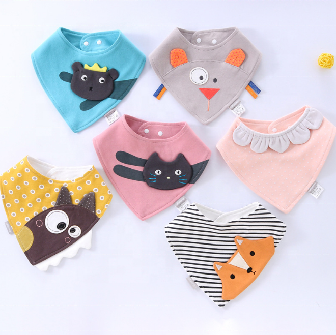 Baberos infant triangles bibs drool bandana baby girls accessories lovely animals bibs