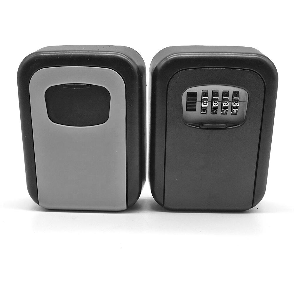 Aluminum Alloy 4 Password Combination Key Safe Lock Box