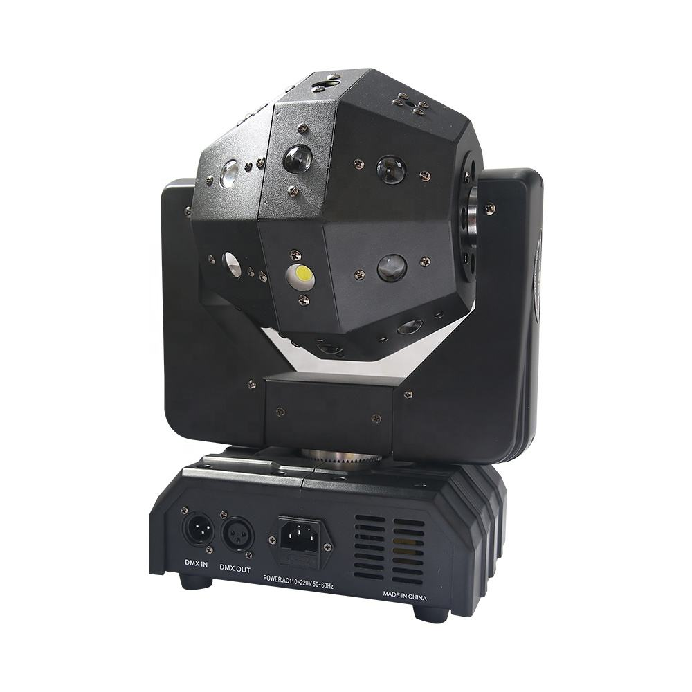 Neue design laser disco 4*15w RGBW led strahl fußball moving head licht/led dj ball