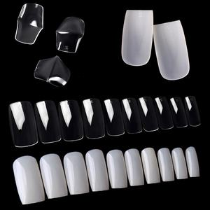 Wholesale High quality Full Covered False super clear Artificial acrylic Square Nail tips