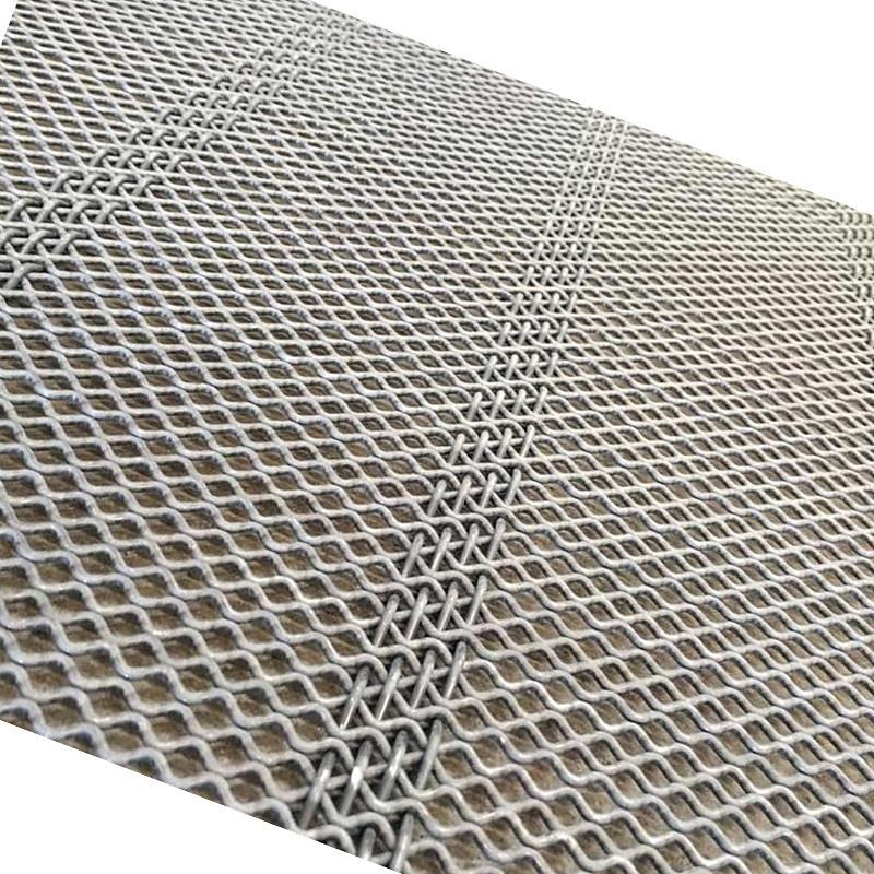 65 Manganese Steel Diamond Self Cleaning Screen Mesh Used For Clay Vibrating Screen