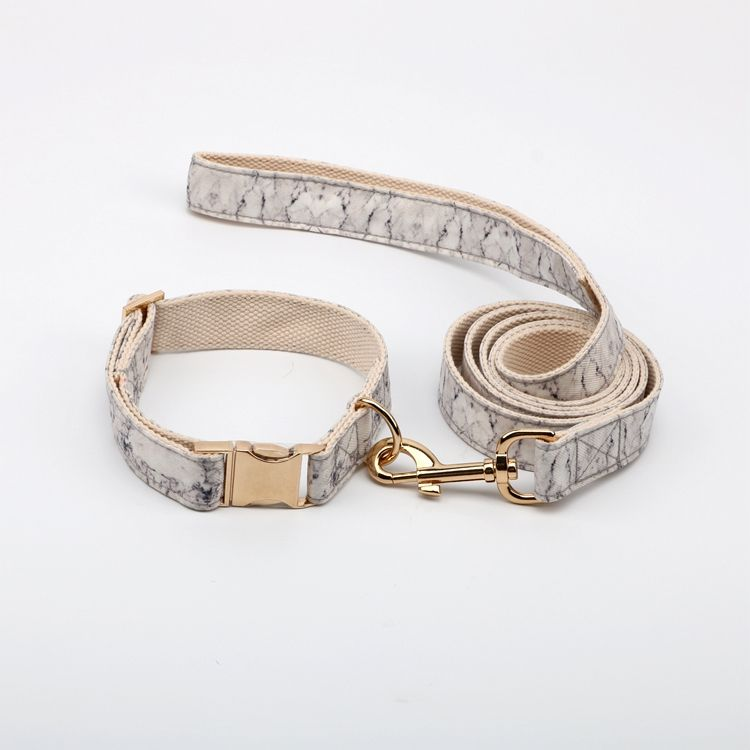 16 years factory free sample rose gold hardware fabric luxury metal buckle custom dog collar