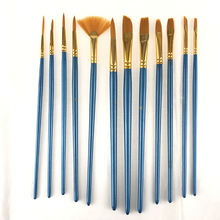 Promotional Nylon Hair Material Watercolor Paint Brush, 12 Different Tip Size Artist Paint Brush With Palette