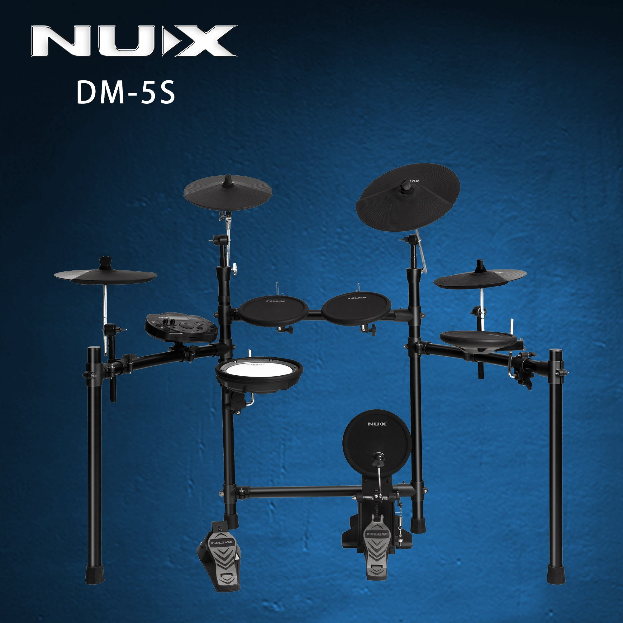 Musical Instruments Hot Sale professional electronic Drum Set With Stand Cymbal NUX drum kit DM-5S