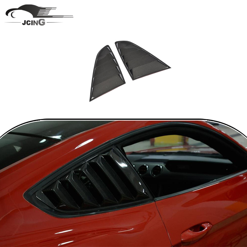 Carbon fiber Rear side window vents sport grill grille Fit for Ford Mustang 2015-2017