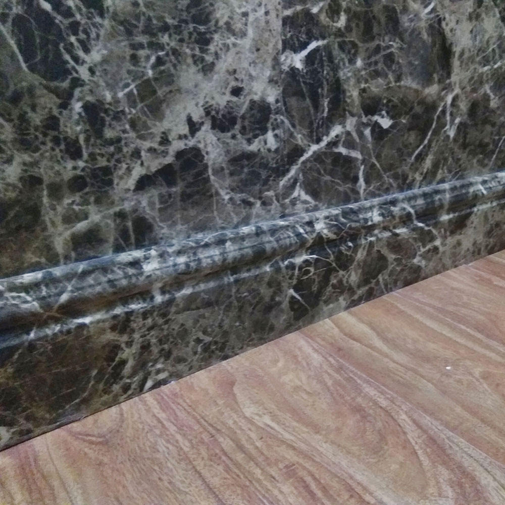 Extruded Marble Color PVC Corner Corder Line Laminate Floor Skirting pvc Bamboo Skirting Board