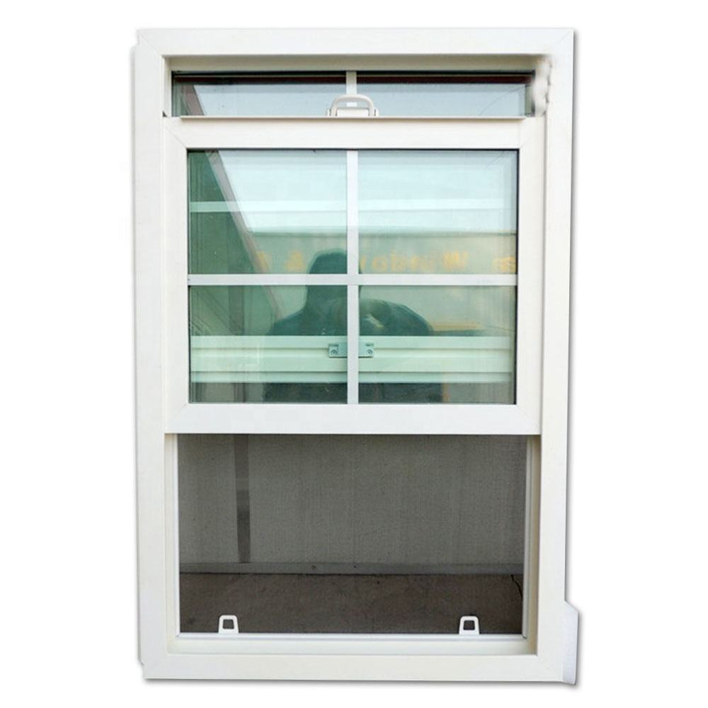 Resistant sliding PVC windows and doors single double hung sliding security grills vinyl windows