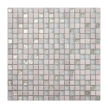 Factory supply silver foil glass mosaic and white marble mosaic tile mixed free pattern for hotel floor and wall decoration