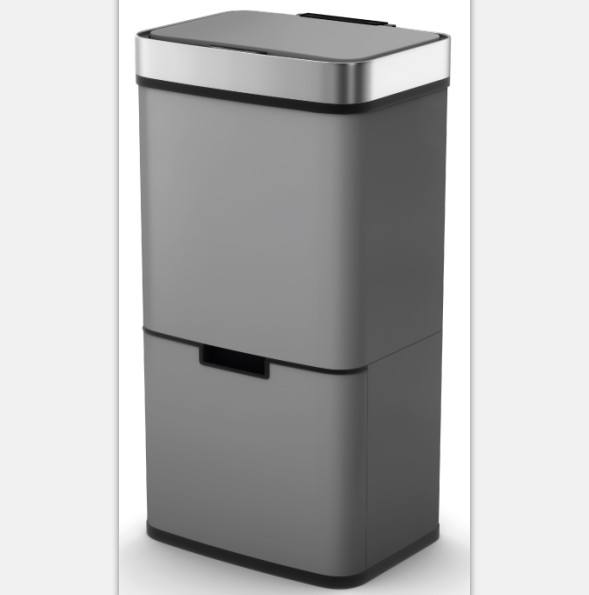 72L High-Tech KitcheSensor Trash bin stainless steel household touchless wholesale big capacity recycling dustbin
