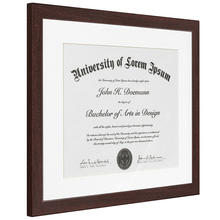 Dark Brown Certificate Diploma Frame For Documents