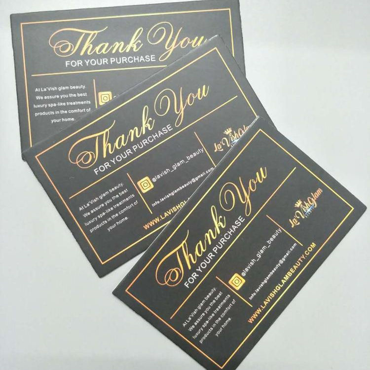 Wholesale Design Texture Paper Custom Greeting Business Thank You Card