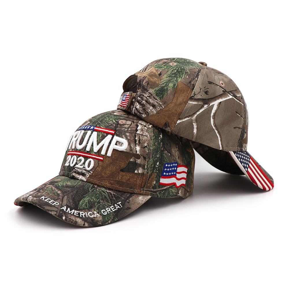 2019 new style camouflage KAG Donald Trump Army caps with USA flag embroidery