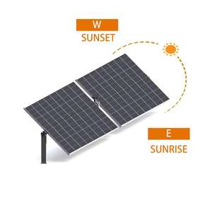 CDS SOLAR single axis PV solar panel tracker system solar module mounting tracking system slew drive solar tracker