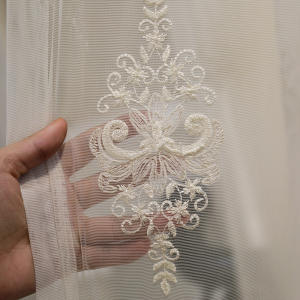 home product popular embroidered used hotel drapes pinched pleat turkish sheer curtain fabric