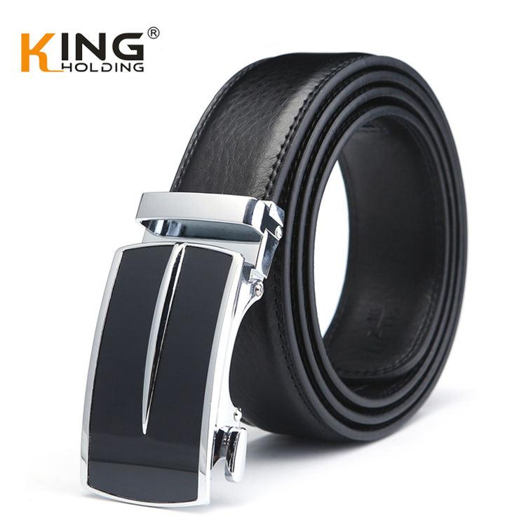 الأصلي 4.0 سنتيمتر الأسود مخصص حزام من الجلد الرجال