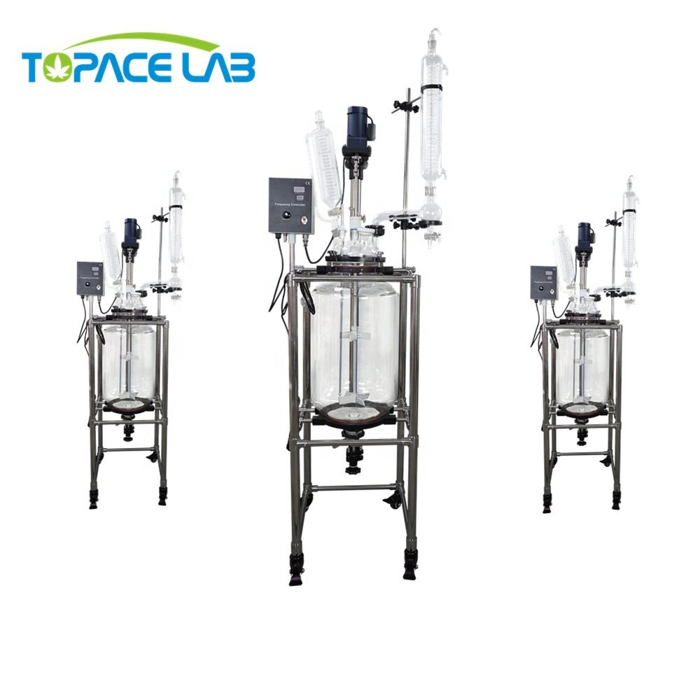 Easy to Clean 100 l 150l 200l Vacuum Chemical Extraction Jacketed Glass Reactor Vessel with Best Price