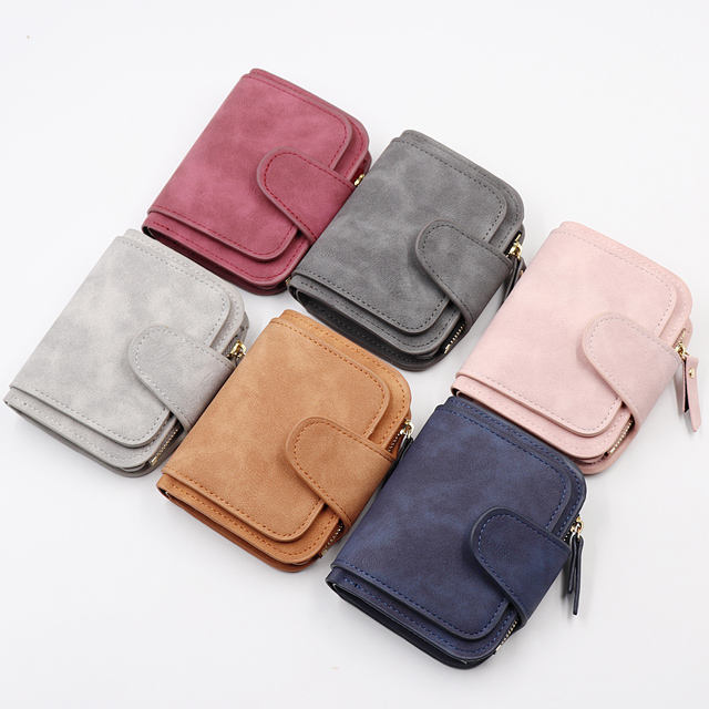 Wholesale Short Woman Wallet Hot Selling PU leather small women hand wallet
