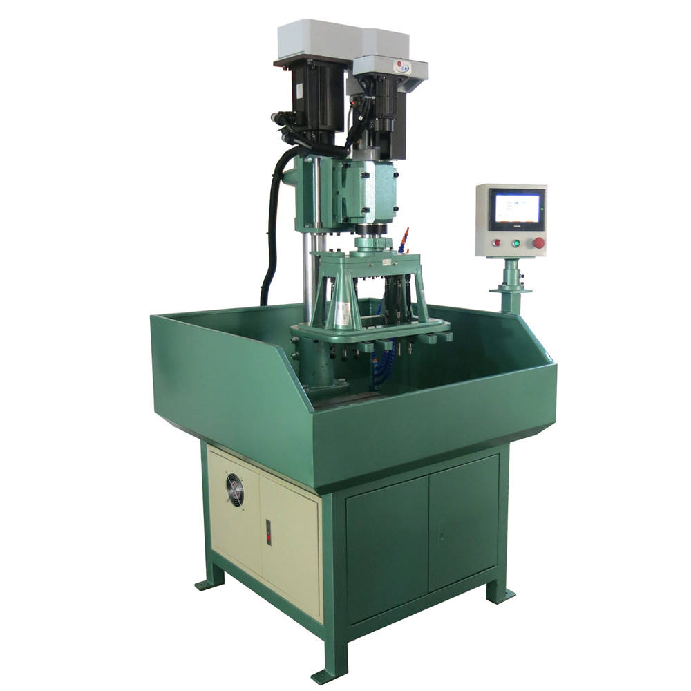 Multi holes multi spindle drilling tapping chamfering machine with adjustable speed automatic