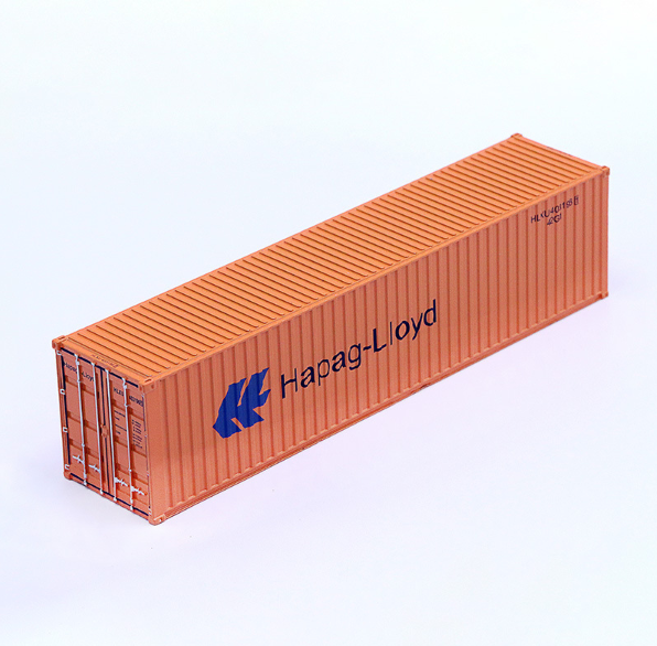 Hapag Lloyd x3 1.50 scale Shipping containers