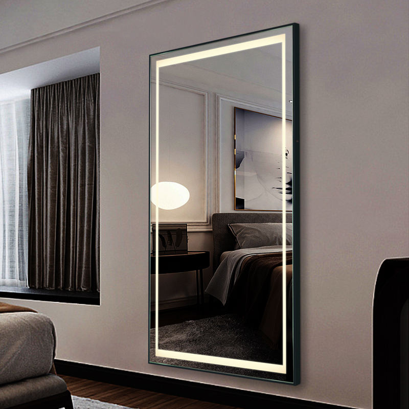 Horizontal Vertical Dimmable LED Bathroom Large Wall Makeup mirror Vanity Mirror With Light