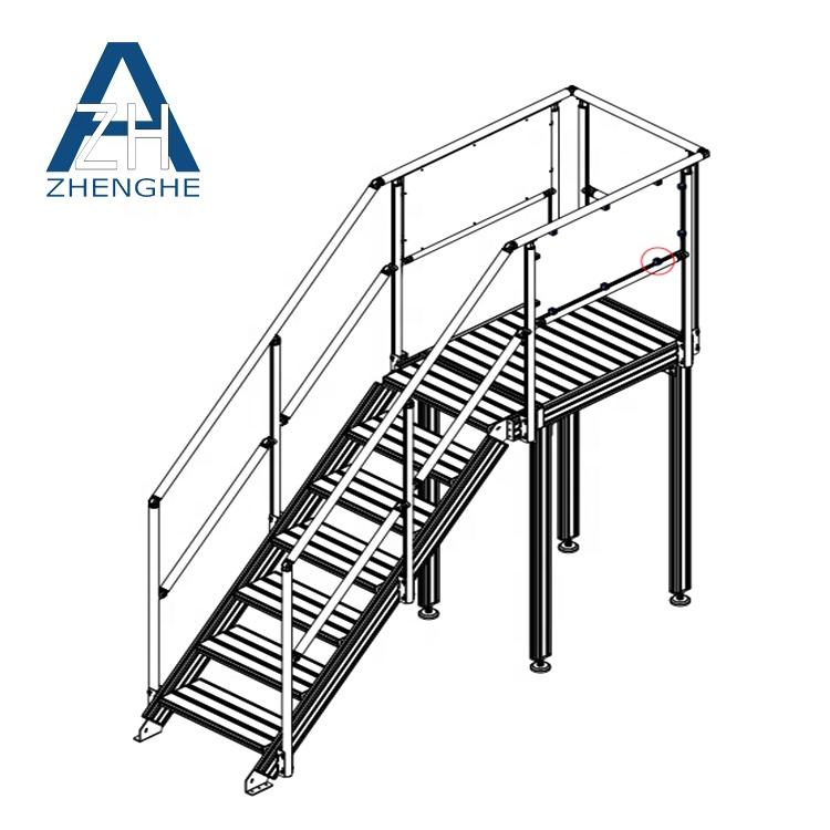 China assembly Walkways fabrication Aluminum Working Platform