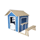 Outdoor Fashion Wooden Children Playhouse Modern Kids Cubby House With Stool