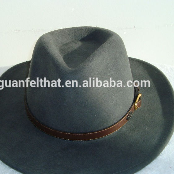 Fashion 100% Australian wool felt men's fedora hat .mens winter fedora hat
