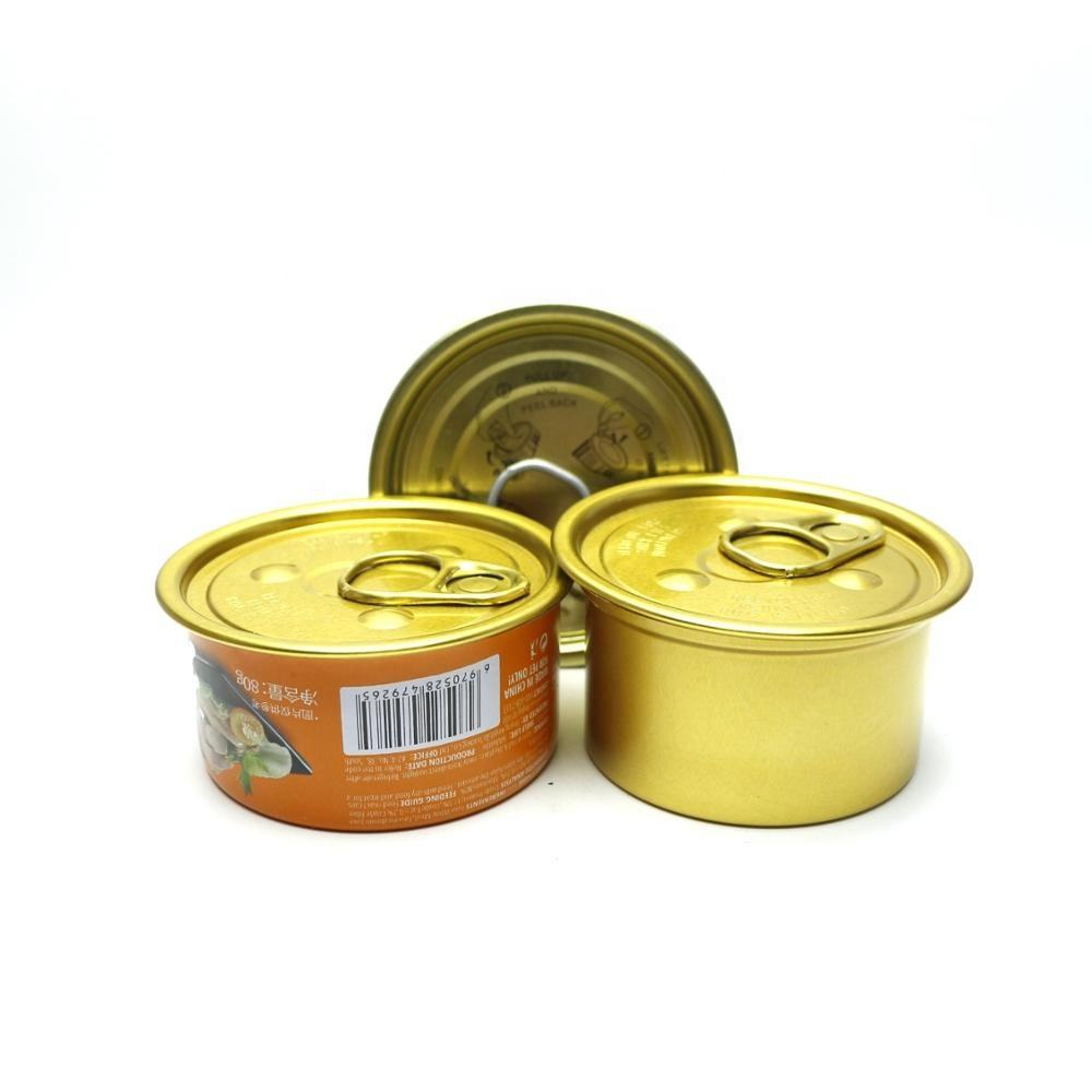 tinplate empty ring pull food grade tin cans with easy open lid T-143N
