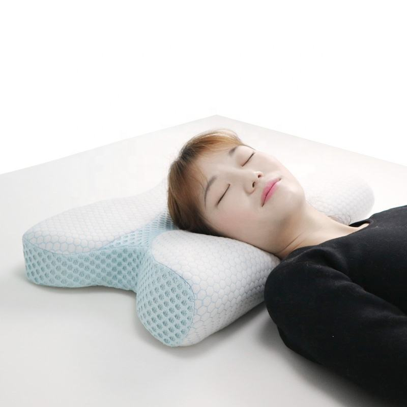 2019 New Design Superior Knitted Fabric Contour Memory Foam Pillow for Bedding