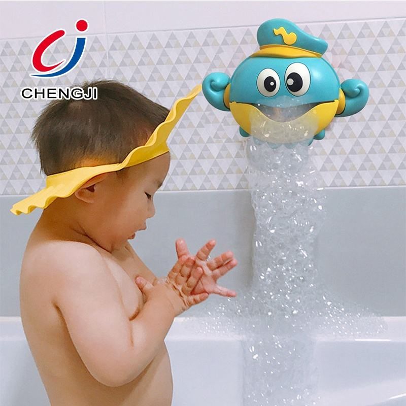 Baby custom eco friendly octopus blowing set automatic bubble maker animal bath toy
