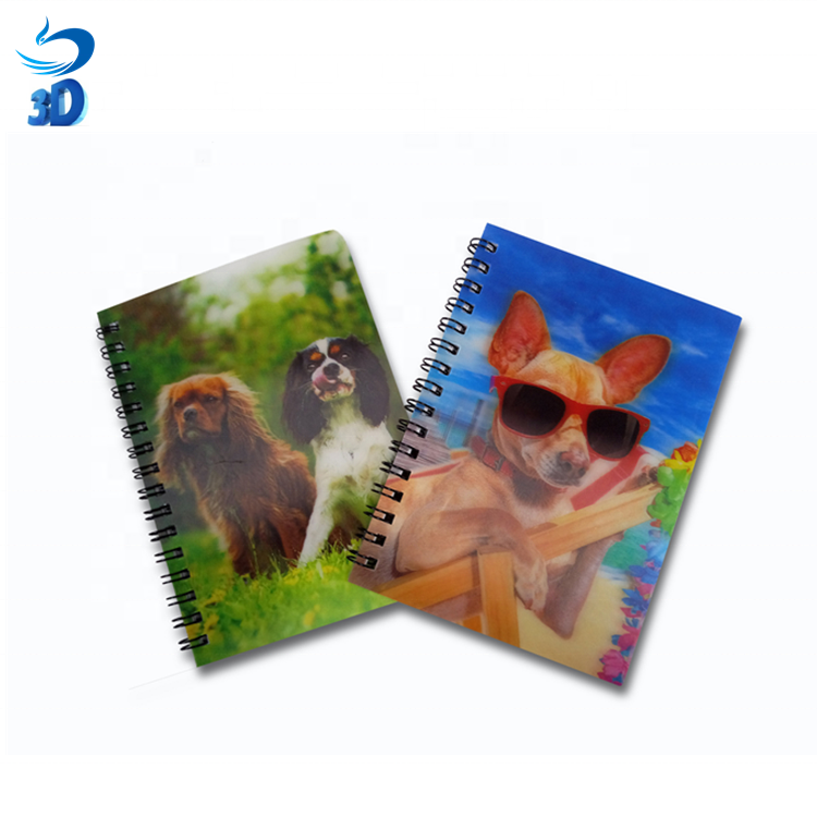 3D Print hologram Note Book Multi-style Dog Pet Lenticular PET/PP Material Customized Hot-Sale Popular