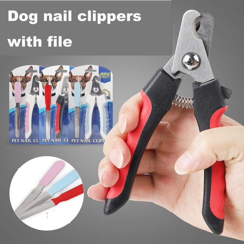 wholesale china manufacturer stainless steel durable dog pet nail clippers and file