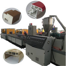 PVC/UPVC WPC plastic window door profile making machine production line