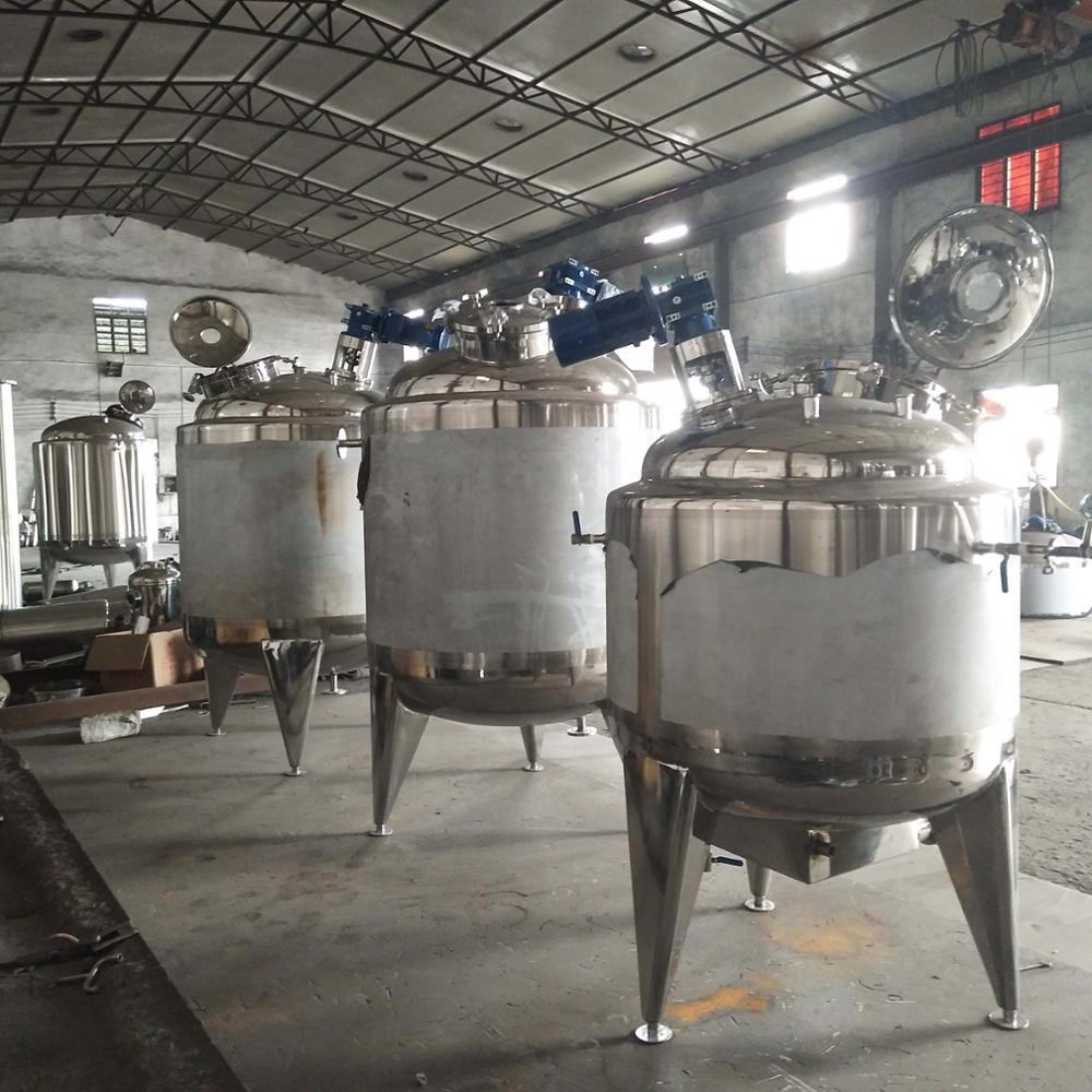 Stainless steel mixing tank with agitator homogenizing blending tank for cosmetic industry