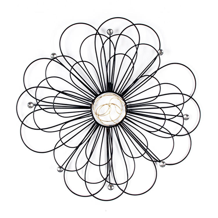 Customizable iron decorative flowers metal wire wall art