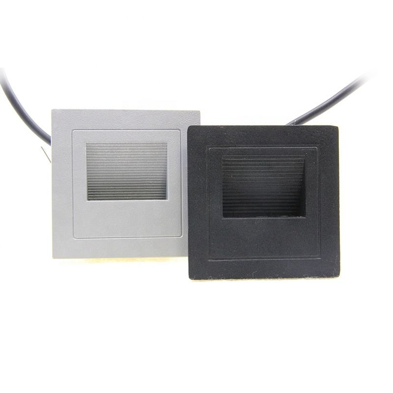High quality recessed wall mounted 3w aluminum square stair IP65 outdoor waterproof led light