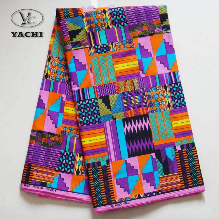 2020 high quality 100% cotton african print cotton fabric