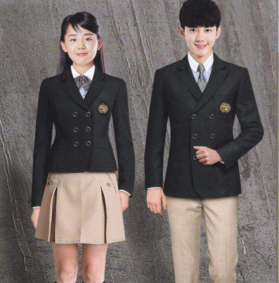 Viscose / Polyester High School university Uniform Dress Blazer jumper sweater badge school uniforms marnoon blazer